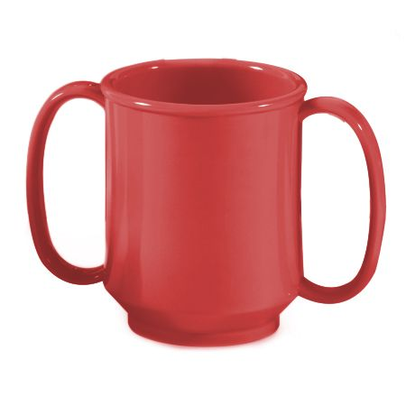 G.E.T. SN-103-RSP Red Sensation 8 Ounce Handled Sippy Mug - 24 / CS