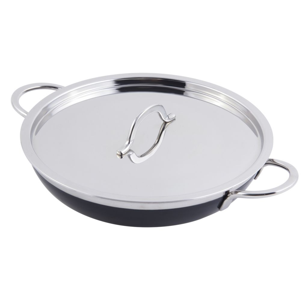 Bon Chef 60306BLACK Stainless 3 Qt. 4 Oz. Casserole Pan with Cover