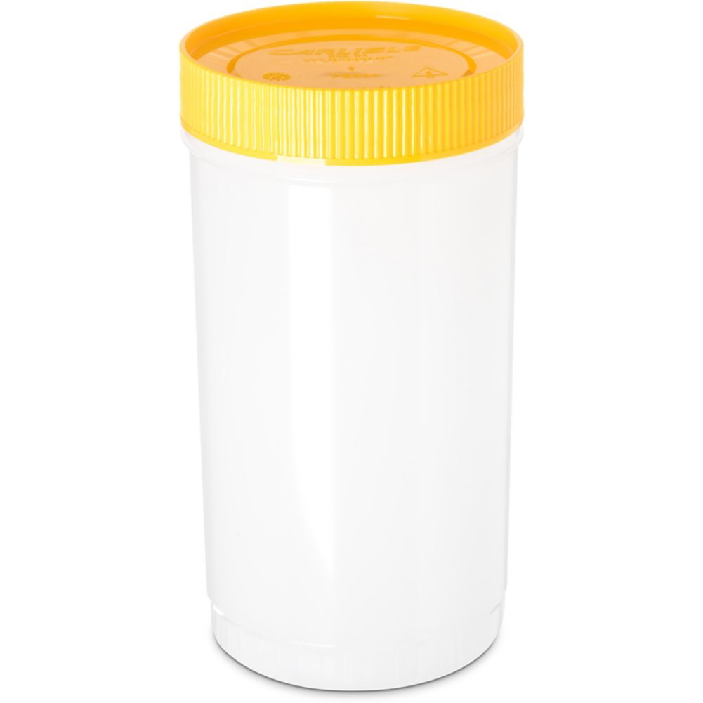Carlisle PS602N04 Stor 'N Pour 1 Qt. Container with Yellow Lid