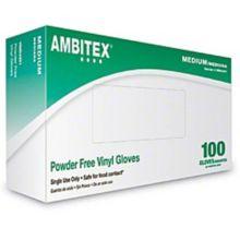 Tradex V4201-MED Medium Weight Powder Free Vinyl Gloves - 1000 / CS