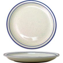 "International Tableware DA-8 Danube Blue Speckle 9"" Plate - 24 / CS"