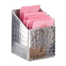 American Metalcraft HMSSQPH2 Square Hammered S/S Sugar Packet Holder