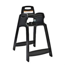 Koala Kare 333-BLK-KD Unassembled Black ECO Chair High Chair