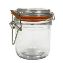 Anchor Hocking® 98907 Clamp Top 9.4 Oz. Mini Heremes Jar - 12 / CS