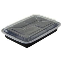 Pactiv NC-8168-B 16 Oz. Black Rectangular Container - 150 / CS