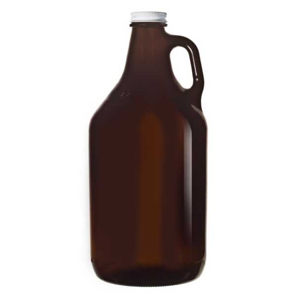 Libbey 64 Oz Amber Glass Beer Growler