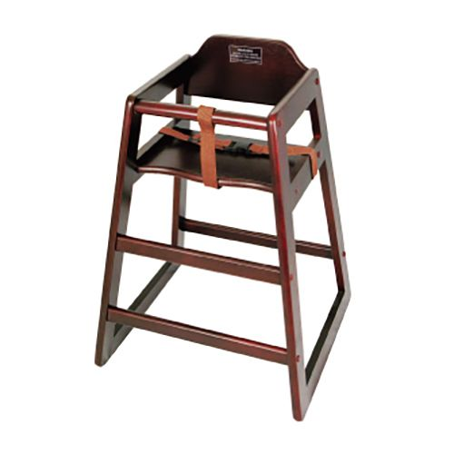 Winco® CHH-103A Assembled Mahogany Stacking High Chair
