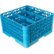Carlisle RG9-414 OptiClean 9 Compartment Glass Rack with 4 Extenders