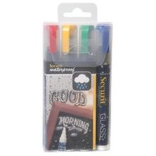 American Metalcraft SMA510V4 Small Tip Assorted Chalk Markers - 4 / PK