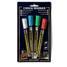 American Metalcraft BLSMA100V4CO Assorted Mini Markers - 4 / PK