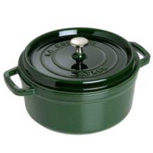 Staub USA 1103085 Basil Cast Iron 9 Qt. Round Cocotte