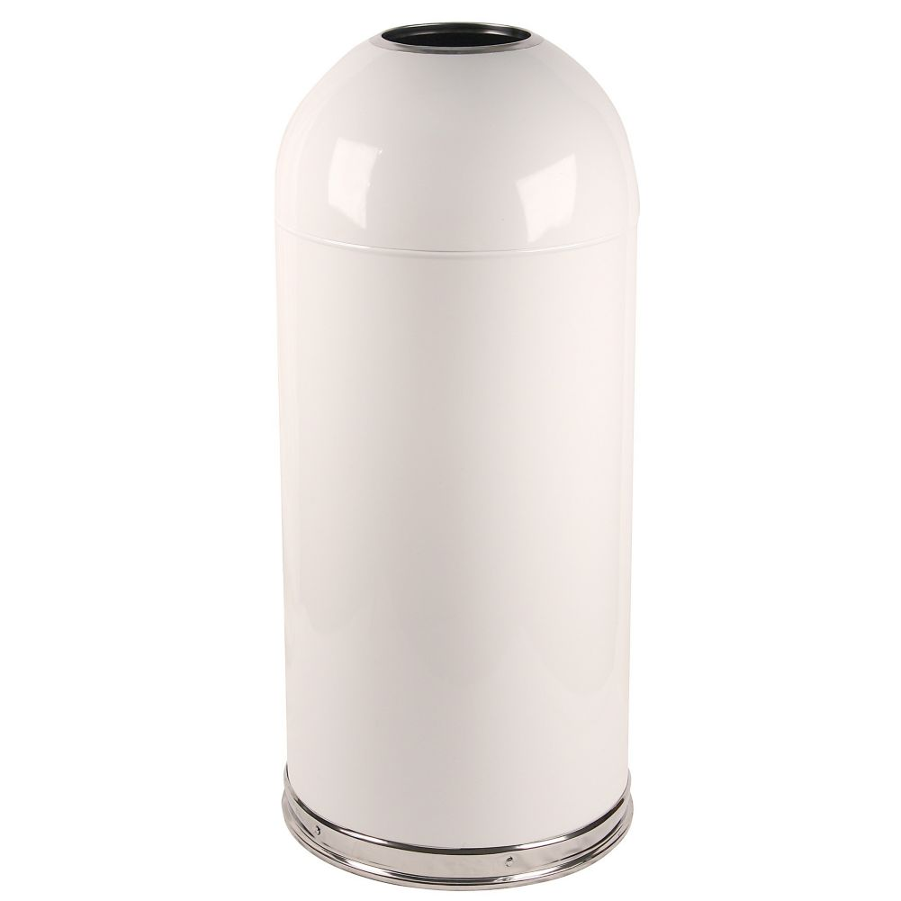 Witt 415DTWH White 15 Gallon Dome Top Waste Receptacle