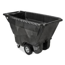 Rubbermaid FG9T1400BLA Black Structural Foam 1/2 Cu. Yard Tilt Truck