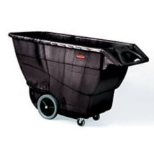 Rubbermaid FG9T1600BLA Black Structural Foam 1 Cu. Yard Tilt Truck