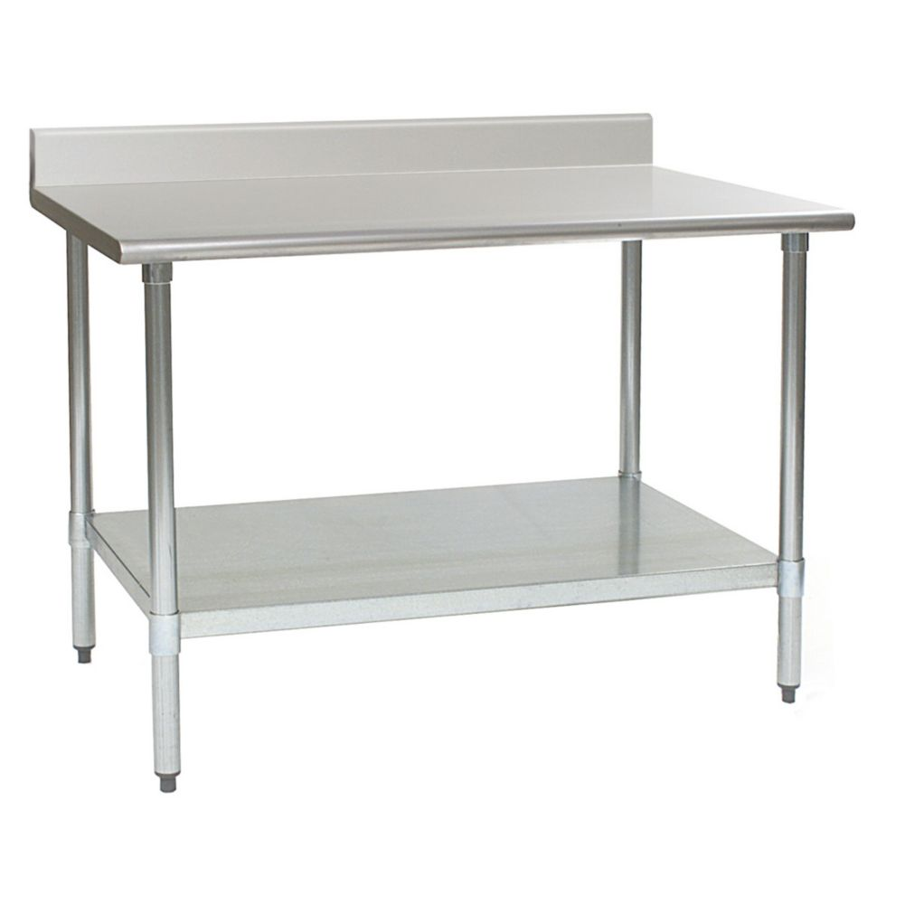 "Eagle® Foodservice T3048B-BS-1X S/S 48""L Work Table"