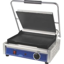 "Globe Food GSG1410 120v Mid Size Electric 14 x 10"" Sandwich Grill"