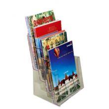 Clear Solutions B4C104 Acrylic 4-Pocket Tri-Fold Brochure Holder