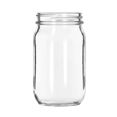 Libbey® 92104 Glass 8 Ounce Drinking Jar - 12 / CS