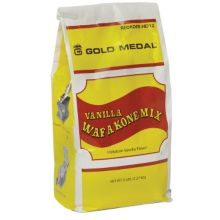 Gold Medal® 8212 Vanilla Waf-a-Kone Bag Waffle Cone Mix - 6 / CS