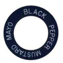 Stewart Engraving Black Pepper Mustard Mayo Ring
