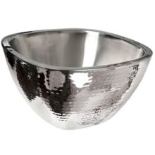 Eastern Tabletop 9329 Hammered 4 Quart Square Insulated Salad Bowl