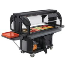 Cambro VBRU5110 Black Versa Food Bar with Storage and Standard Casters