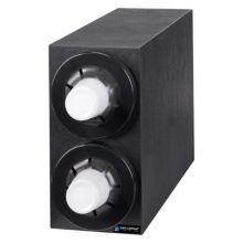 San Jamar® C2952BK Sentry® 2-Section Cup Dispenser Cabinet