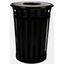Witt M3601-FT-BK Oakley 36 Gallon Waste Receptacle with Flat Top