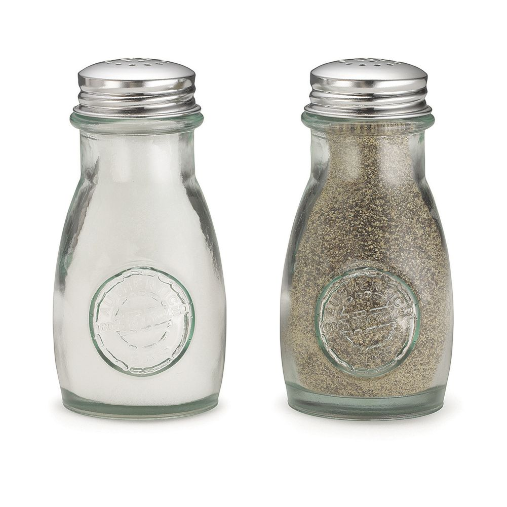 TableCraft 6618 Green Glass 4 Ounce Salt / Pepper Shaker - 24 / CS