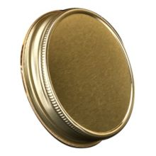 "Libbey® 92136 Gold Metal 3"" Lid for Drinking Jar - Dozen"