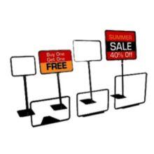 """FFR-DSI 9920711122 Black 7"""" x 11"""" Sign Frame with Adjustable Stem"""