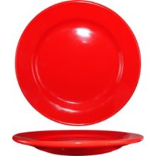 "International Tableware CA-9-CR Cancun Red 9-3/4"" Plate - 24 / CS"