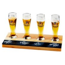 Cal-Mil 2063 Natural Wood Write-On Beer Sampler Tray
