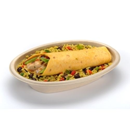 Sabert® 497BB300 TerraPac Burrito Oval Pulp Bowl - 300 / CS