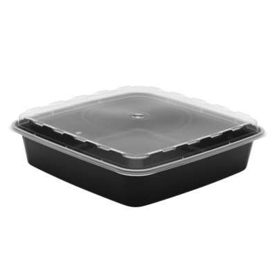 Cube Plastics CR-1047B Combo Pack Square 48 Oz. Container