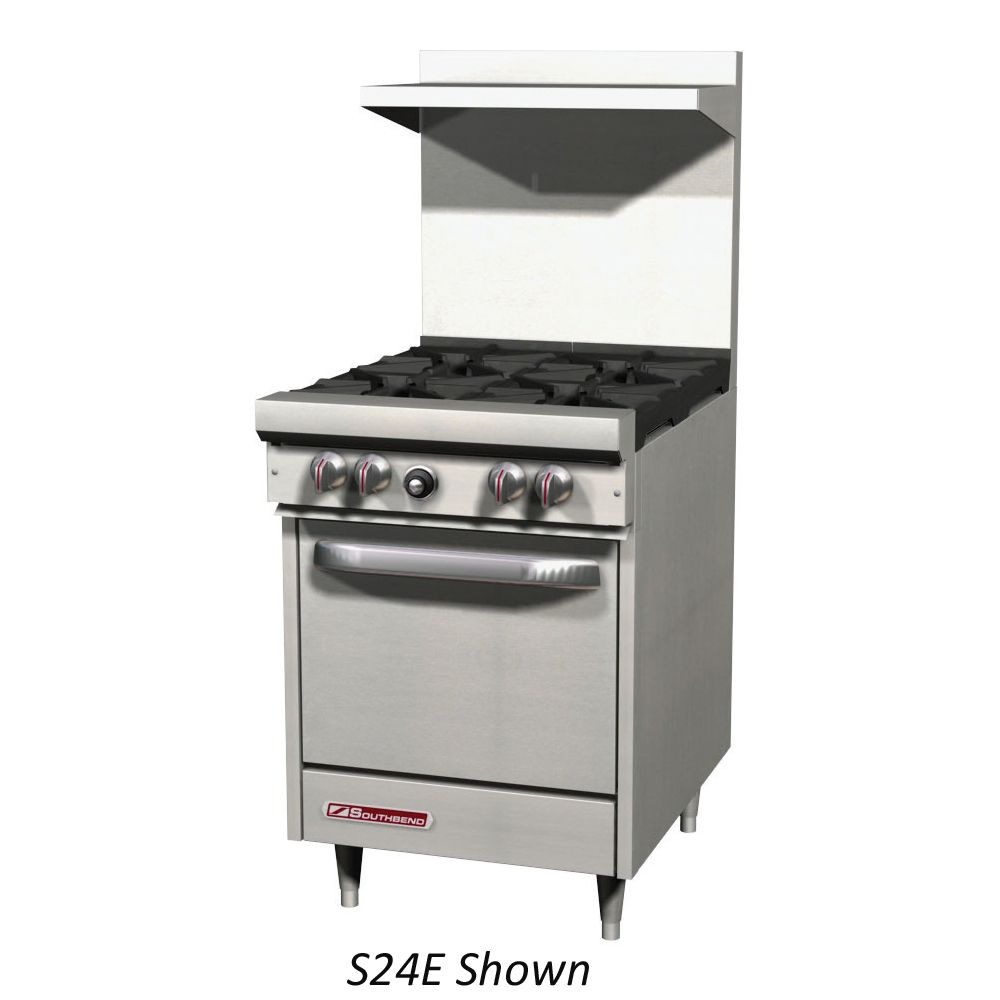 "Southbend S24C Natural Gas Restaurant 24"" Range with Oven"