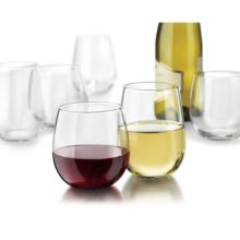 Libbey® 31229 12 Piece Stemless Red / White Wine Glass Set