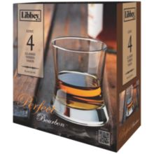 Libbey® 56615 4 Piece Perfect Bourbon 8.5 Ounce Glass Set