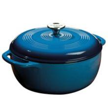 Lodge® EC6D33 Blue 6 Quart Cast Iron Dutch Oven with Lid