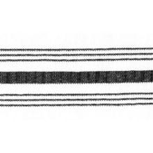 "Snap Drape NAPFSBLK Black Farm Stripe 18"" x 22"" Napkin - Dozen"