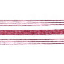 """Snap Drape NAPFSRED Red Farm Stripe 18"""" x 22"""" Napkin - Dozen"""