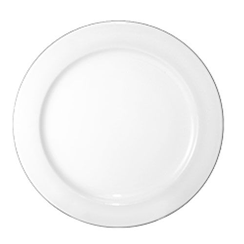 "Int'l Tableware DO-21 Dover Euro White 12"" Rolled Edge Plate - 12 / CS"