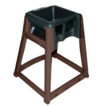 Koala Kare KB866-02 KidSitter Brown High Chair with Black Seat