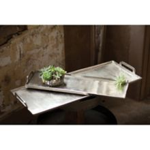 "Kalalou NRS1035 Antique Silver 12"" x 31"" Platter / Tray"