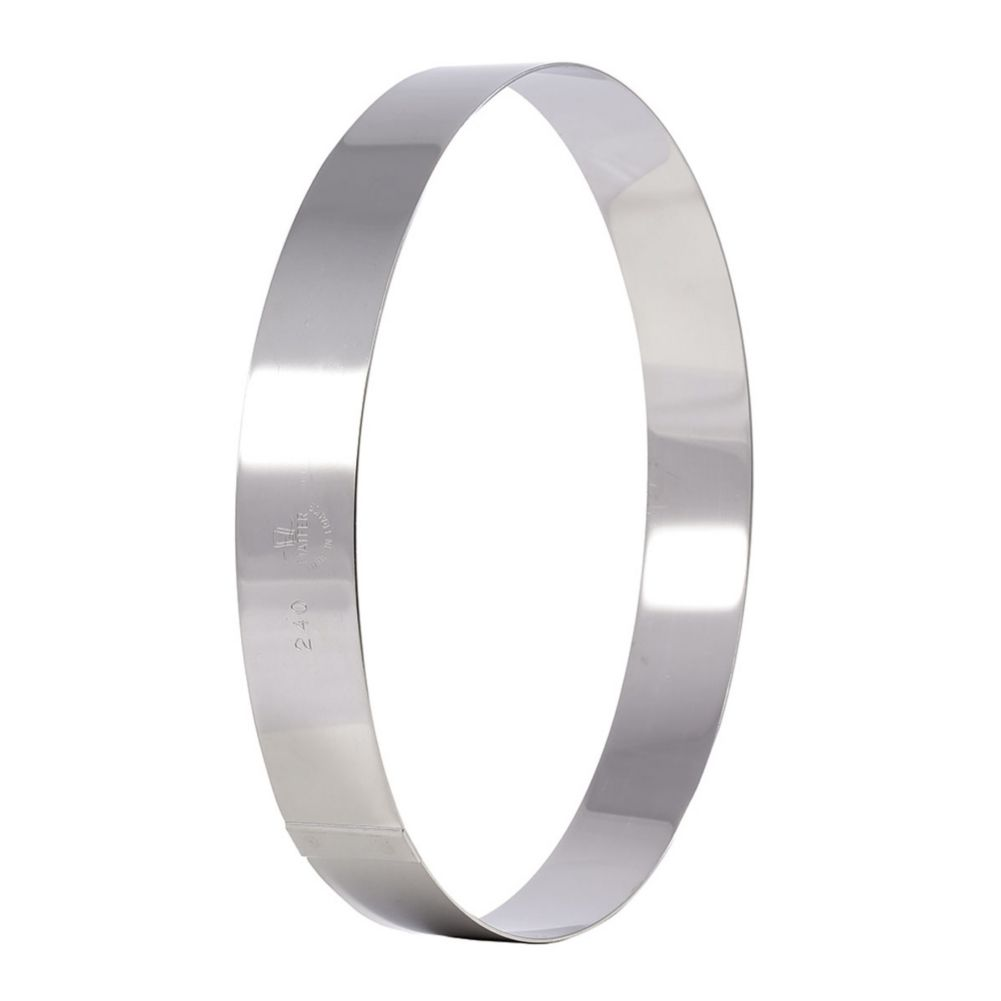 "Matfer Bourgeat 371204 Stainless Steel 6-1/4"" Bottomless Flan Ring"