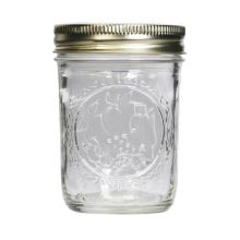 Ball® 60000 Glass 8 Oz. Mason Jars with Lids / Bands - 12 / CS