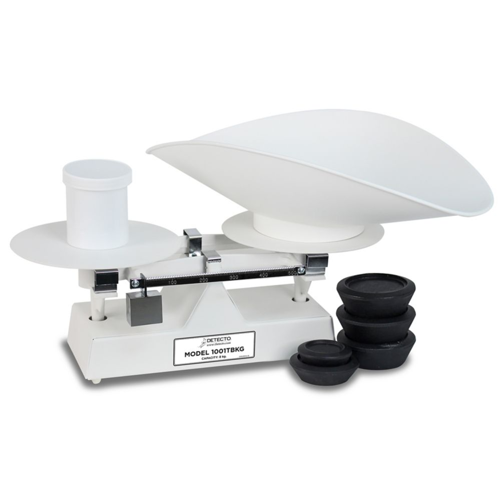 Detecto® Scale 1001TBKG White 8 kg. Baker Dough Scale with Scoop
