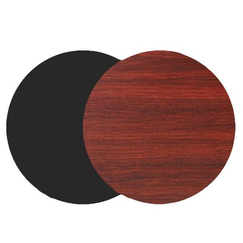 "National Metalwares 201146 Reversible Black / Mahogany 30"" Round Table Top"