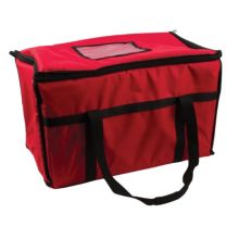 """San Jamar FC2212-RD Red 12 x 22"""" Insulated Food / Pizza Carrier"""