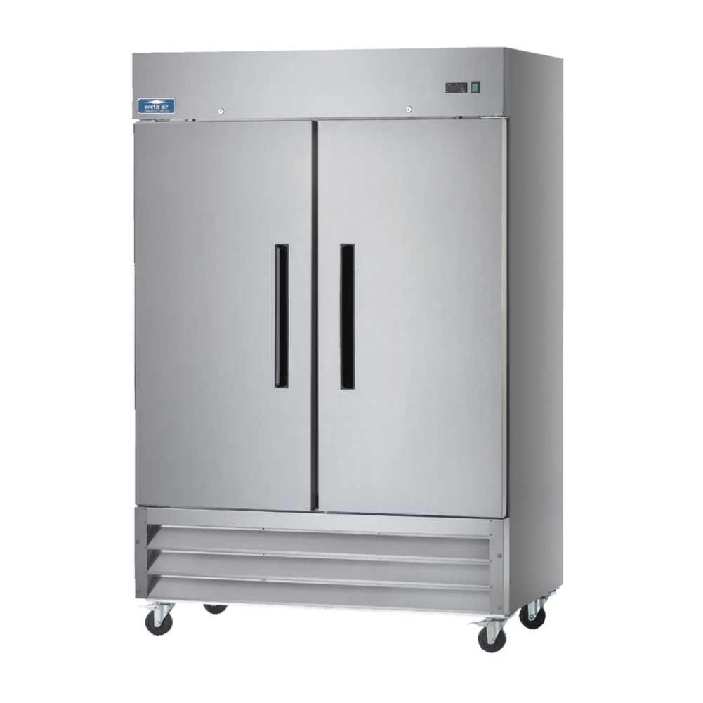 Arctic Air AR49 S/S Exterior 2-Door 49 Cu Ft Refrigerator